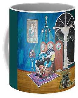 Languid Lady In A Chair Brooding Over Poetry Coffee Mug