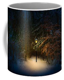 Lantern In The Wood Coffee Mug