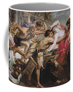 Lapiths And Centaurs Oil On Canvas Coffee Mug