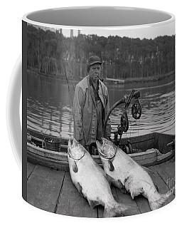 Large King Salmon Moss Landing Monterey California  Circa 1955 Coffee Mug