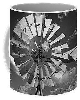 Large Windmill In Black And White Coffee Mug