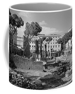 Coffee Mug featuring the photograph Largo Di Torre - Roma by Dany Lison