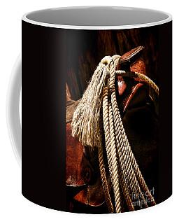 Lariat On A Saddle Coffee Mug