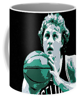 Larry Bird Poster Art Coffee Mug