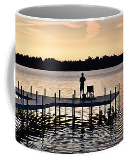 Coffee Mug featuring the photograph Last Cast by Greg Jackson
