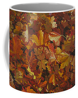 Coffee Mug featuring the painting Last Fall In Monroe by Thu Nguyen