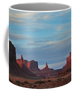 Coffee Mug featuring the photograph Last Light In Monument Valley by Alan Vance Ley