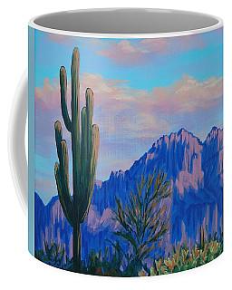 Last Light On The Superstitions Coffee Mug