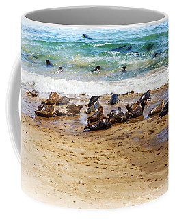 Coffee Mug featuring the photograph Last One In by David Millenheft