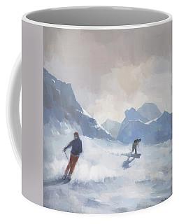 Last Run Les Arcs Coffee Mug by Steve Mitchell