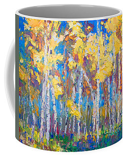 Coffee Mug featuring the painting Last Stand by Talya Johnson