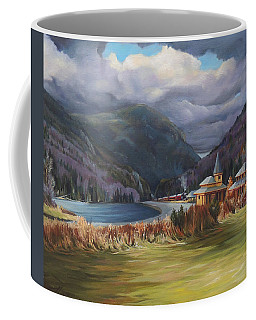 Last Train To Crawford Notch Depot Coffee Mug by Nancy Griswold