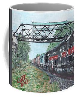 Last Train Under The Bridge Coffee Mug