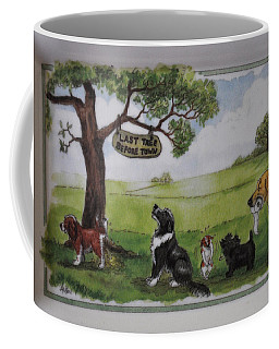 Last Tree Dogs Waiting In Line Coffee Mug