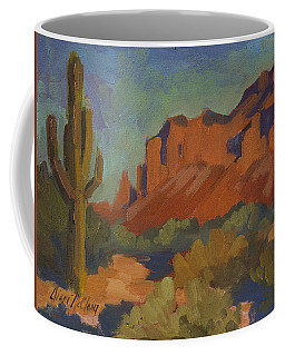 Late Afternoon Light At Superstition Mountain Coffee Mug