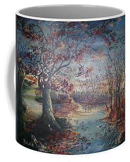 Coffee Mug featuring the painting Late Fall by Peter Suhocke