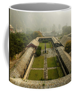 Coffee Mug featuring the photograph Late Morning Fog At The Great Wall  by Lucinda Walter