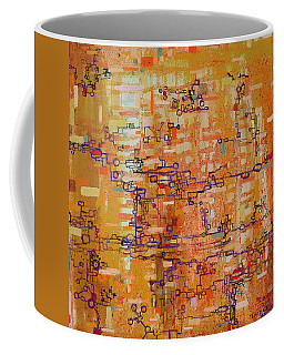 Lattice Animals Abstract Oil Painting By Regina Valluzzi Coffee Mug by Regina Valluzzi