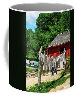 Laundry Hanging On Line Coffee Mug
