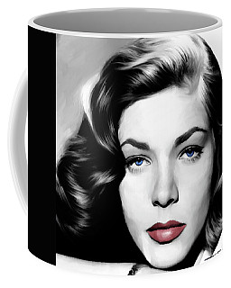 Lauren Bacall Large Size Portrait Coffee Mug
