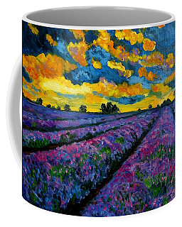 Lavender Fields At Dusk Coffee Mug