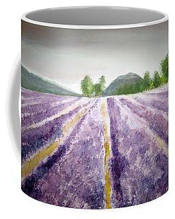 Lavender Fields Tasmania Coffee Mug by Elvira Ingram