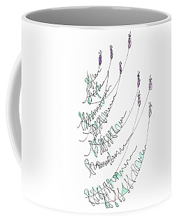 Lavender Grows From Stone Wall  Coffee Mug