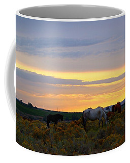 Coffee Mug featuring the photograph Lavender Sunrise by Lynn Hopwood
