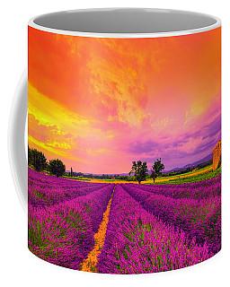 Lavender Sunset Coffee Mug by Midori Chan