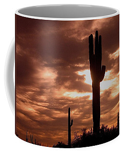 Coffee Mug featuring the photograph Lawless Frontier Homage 1935 Saguaro Forest by David Lee Guss
