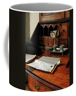 Lawyer - Quill Papers And Pipe Coffee Mug by Susan Savad