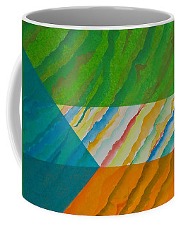 Coffee Mug featuring the mixed media Layover by Michele Myers