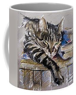 Lazy Cat Portrait - Drawing Coffee Mug
