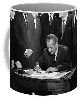 Lbj Signs Civil Rights Bill Coffee Mug