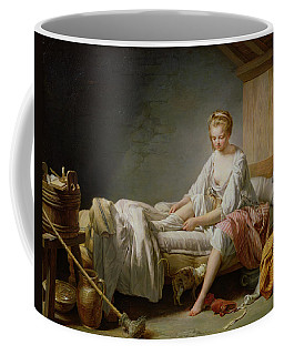 Le Lever De Fanchon Oil On Canvas Coffee Mug