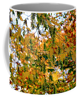 Coffee Mug featuring the photograph Leaf Breezes by Deborah  Crew-Johnson