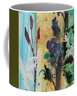 Leaf Flower Berry Coffee Mug by Robin Maria Pedrero
