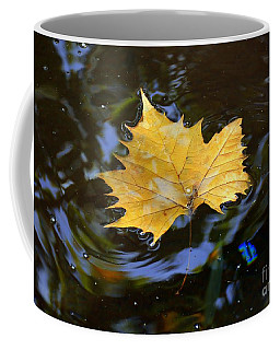 Leaf In Pond Coffee Mug