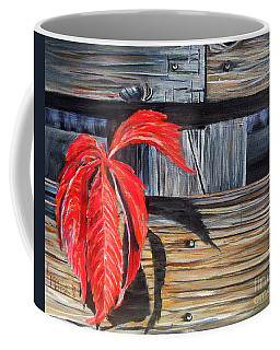 Leaf Shadow 2 Coffee Mug by Marilyn  McNish