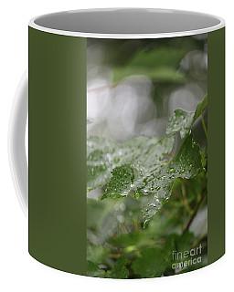 Leafy Raindrops Coffee Mug