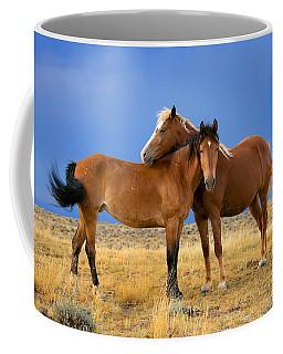 Lean On Me Wild Mustang Coffee Mug