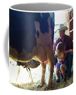 Learning How To Get Milk Coffee Mug
