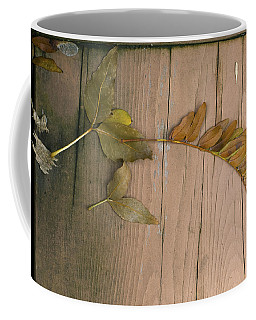 Leaves On A Wooden Step Coffee Mug