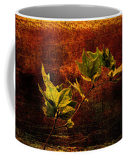 Leaves On Texture Coffee Mug