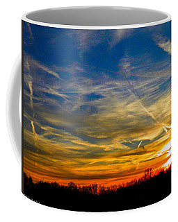 Leavin On A Jetplane Sunset Coffee Mug