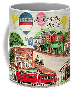 Coffee Mug featuring the painting Lebanon Ohio by Diane Pape