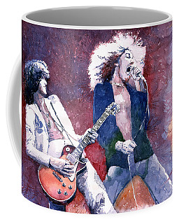 Led Zeppelin Jimmi Page And Robert Plant  Coffee Mug