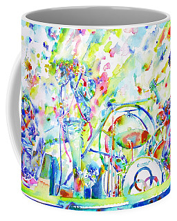 Led Zeppelin Live Concert - Watercolor Painting Coffee Mug