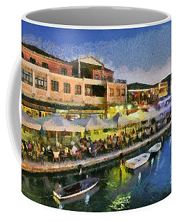 Lefkada Town During Dusk Time Coffee Mug