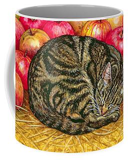 Left Hand Apple Cat Coffee Mug